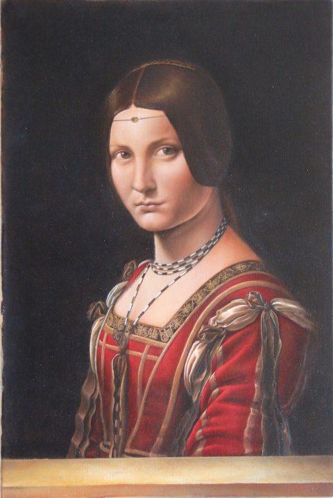 """Copy of """"La Belle Ferroniere"""""""